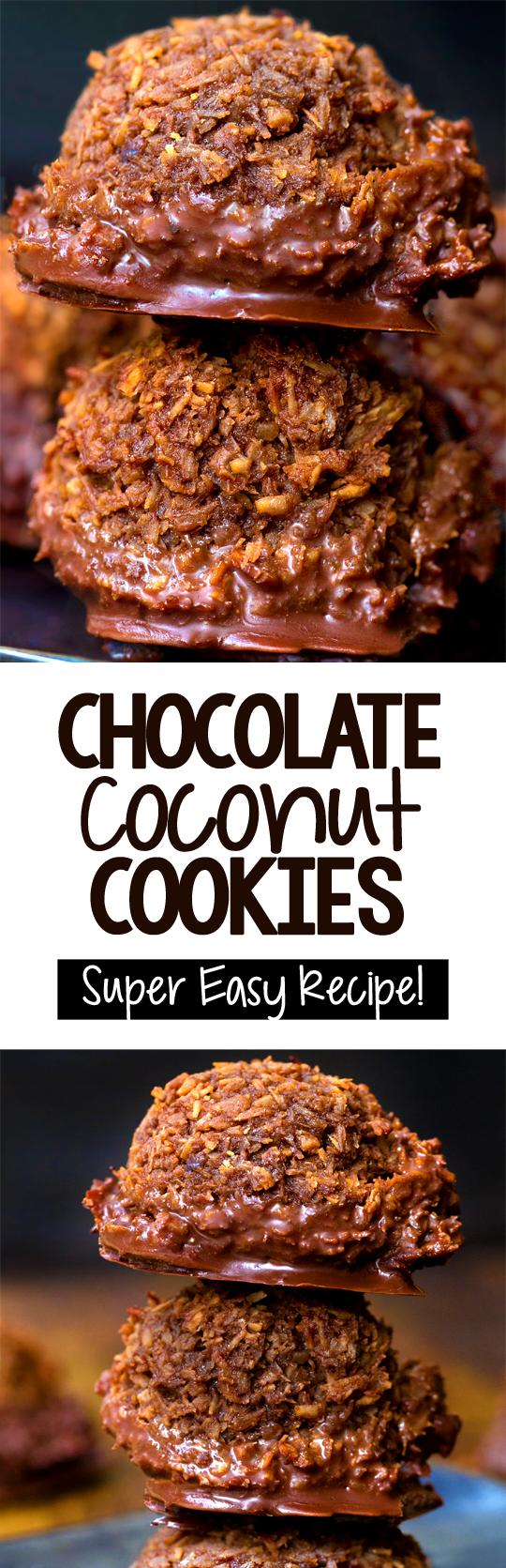 Chocolate Coconut Cookies - Chocolate Covered Kati