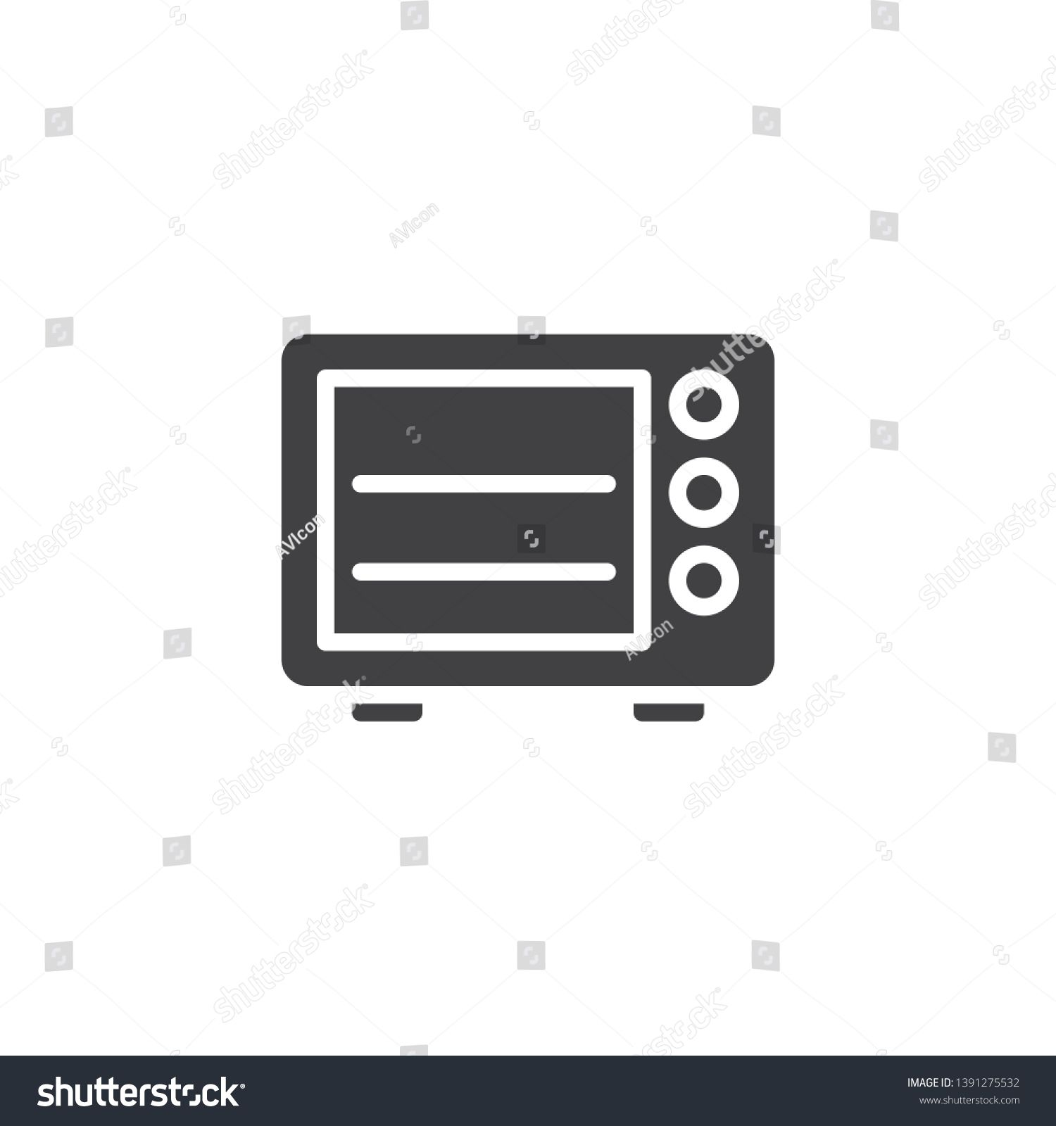 Microwave Oven Vector Icon Filled Flat Sign For Mobile Concept