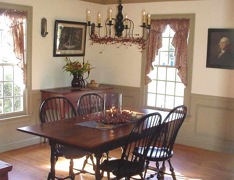 Interiors Colonial Dining Room Colonial Home Decor Primitive Dining Rooms