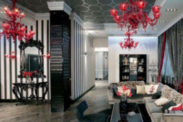 Love This Look Luxury Apartments Interior Red Apartment Decor