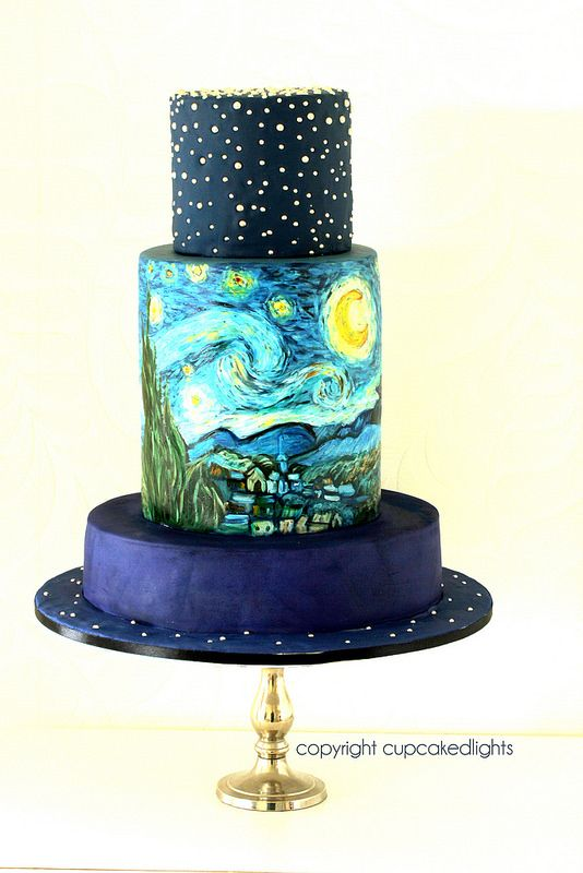 starry night sky | Starry night sky, Cake and Wedding cake