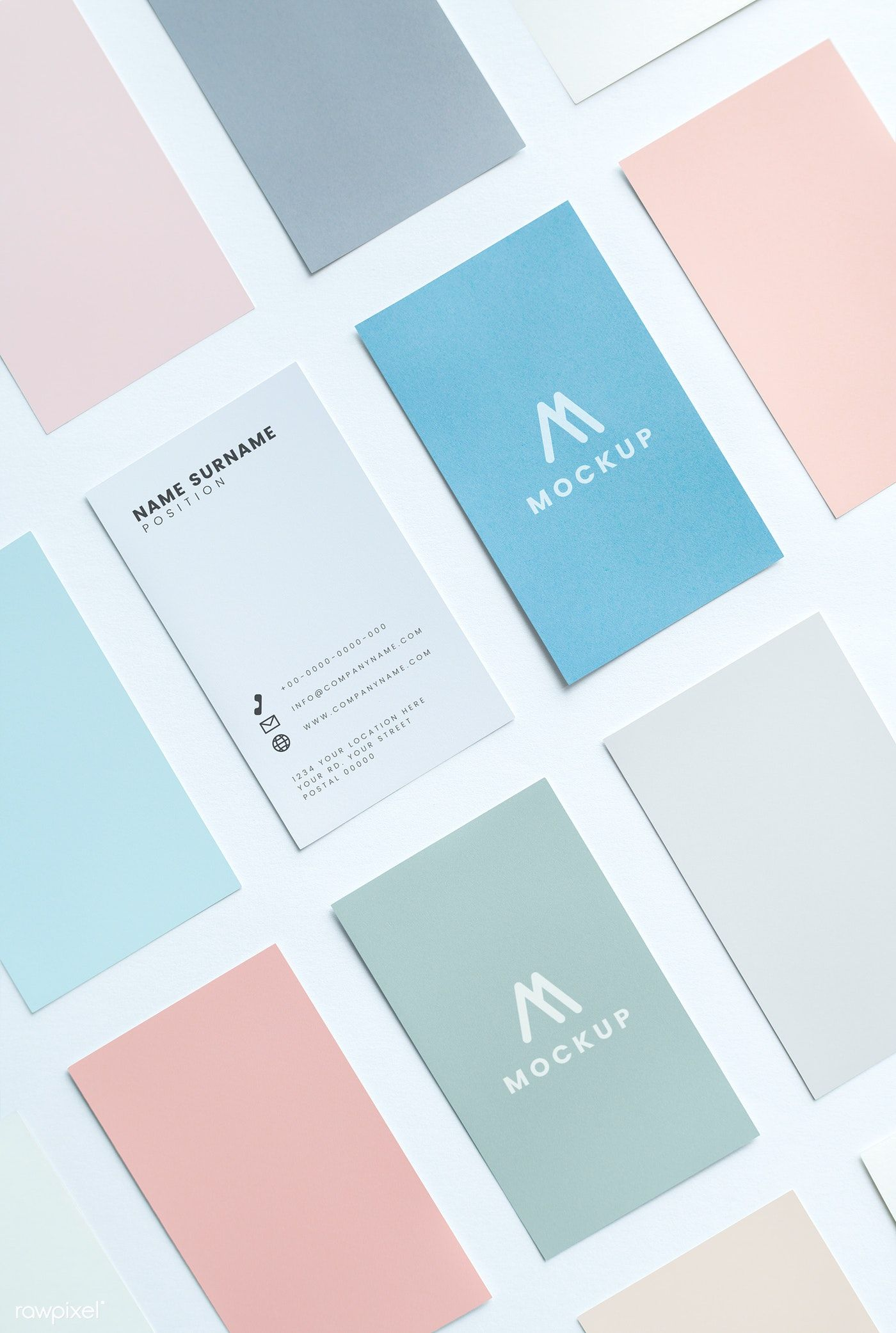Business card and name card mockup | free image by rawpixel.com / Ake