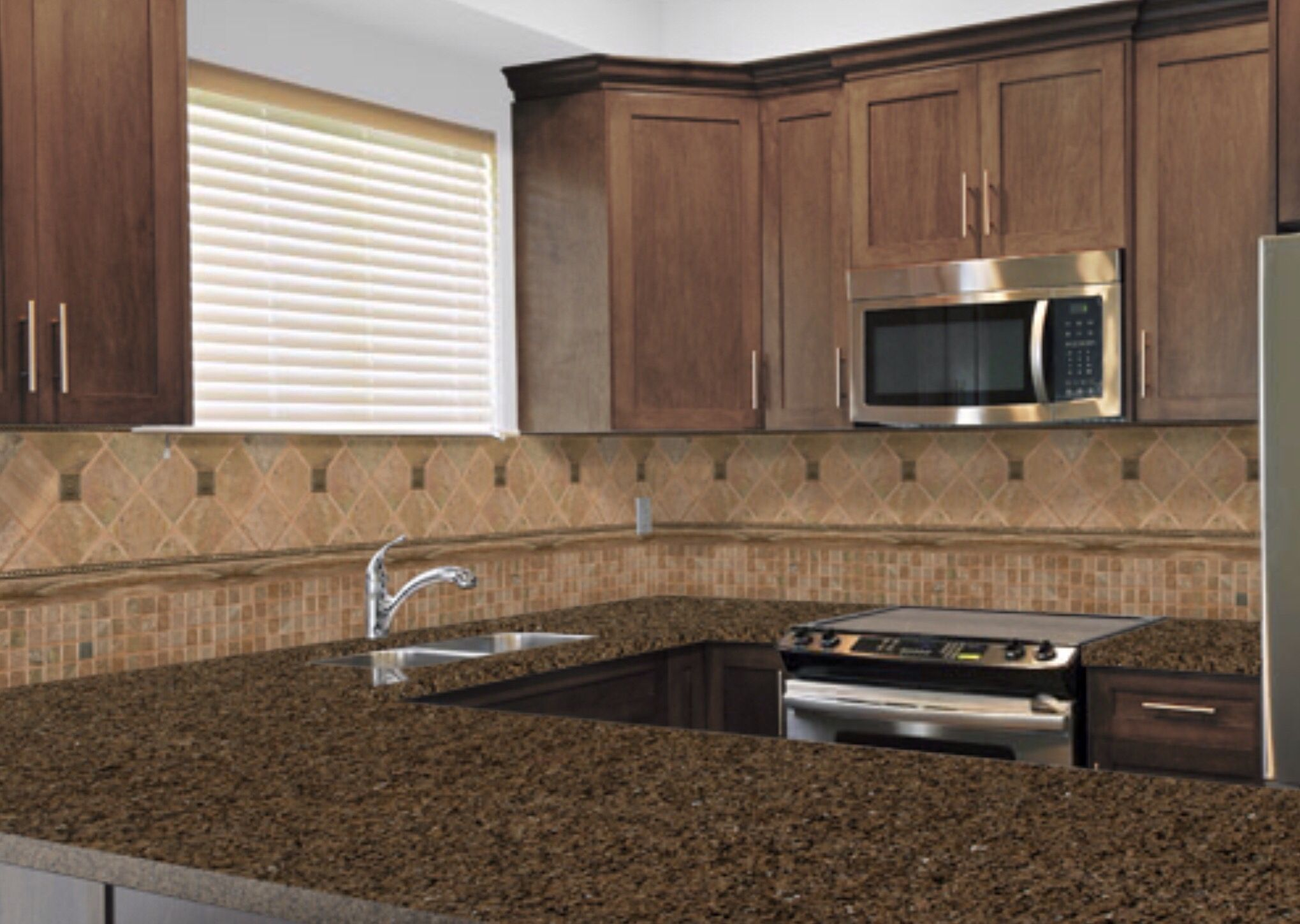 i used a kitchen visualizer app to come up with this tropic brown granite countertop stain on kitchen remodel apps id=63107