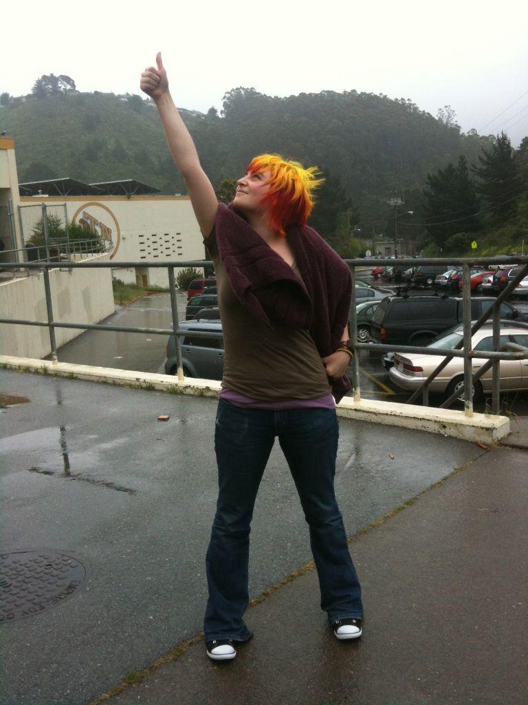 Hey jes! Is that rasheena? kickass flame colored hair