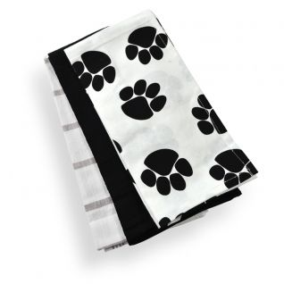 Paw Print Cotton Tea Towels --- Quick Info: Price 6.00 ...