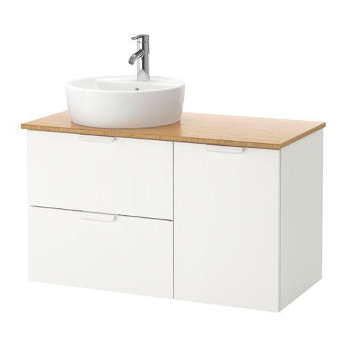 GODMORGON/TOLKEN / TÖRNVIKEN Meuble lavabo av lav à poser 45 - Meuble Vasque A Poser Salle De Bain