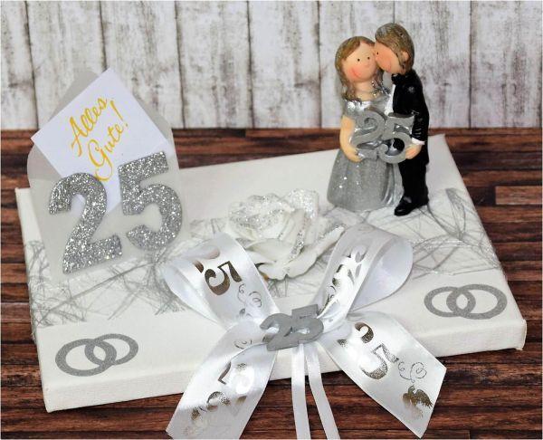 Geldgeschenk Zur Silberhochzeit Silberpaar Geldgeschenke Silberhochzeit Geschenkideen Silberhochzeit Silberhochzeit Geschenk
