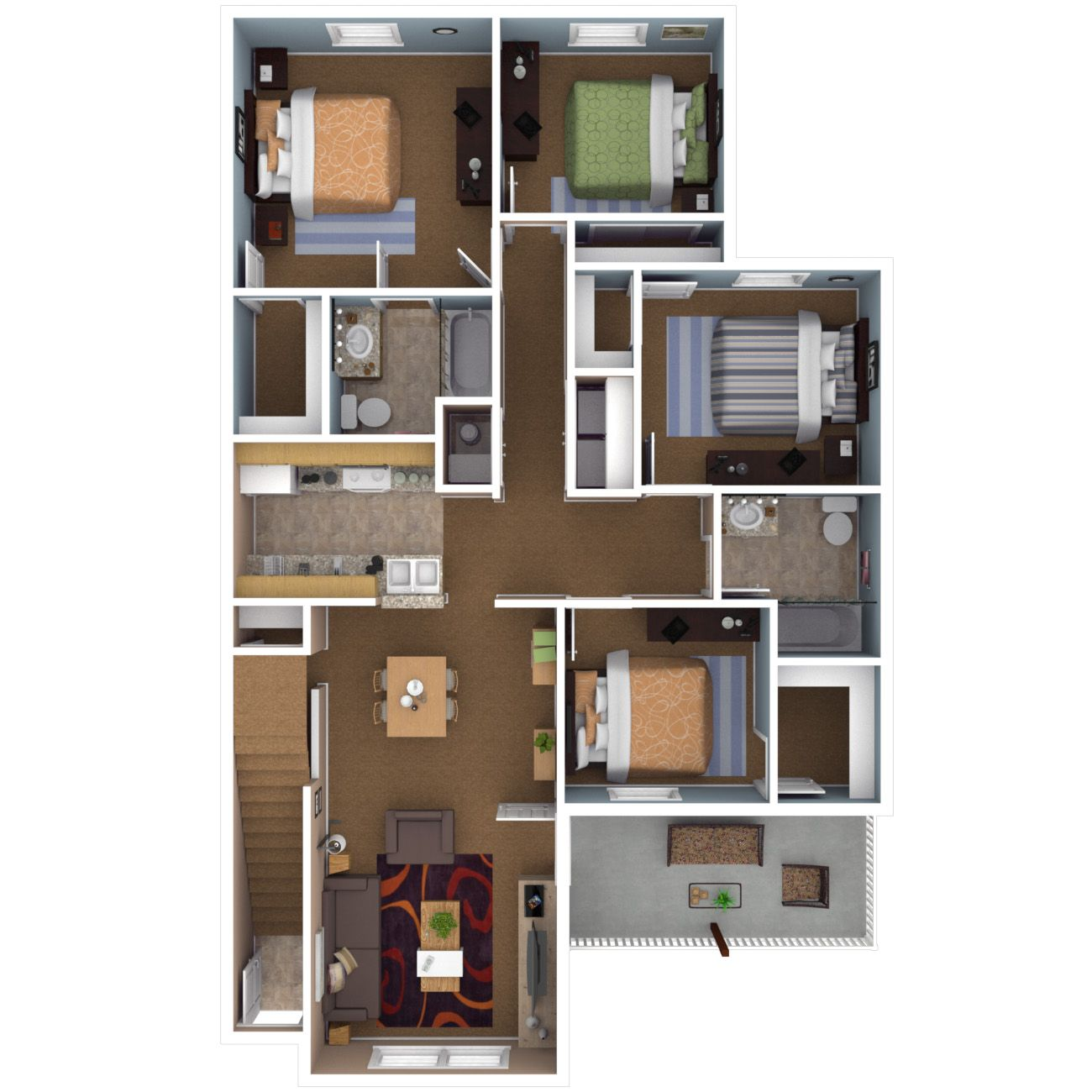 4 Bedroom 4 Bathroom Floor Plans Nha
