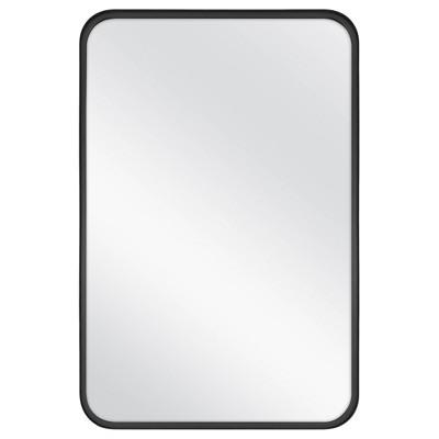 24 X 36 Rectangular Decorative Mirror With Rounded Corners Black Threshold Designed With Studio Mcgee Mirror Decor Studio Mcgee Round Corner