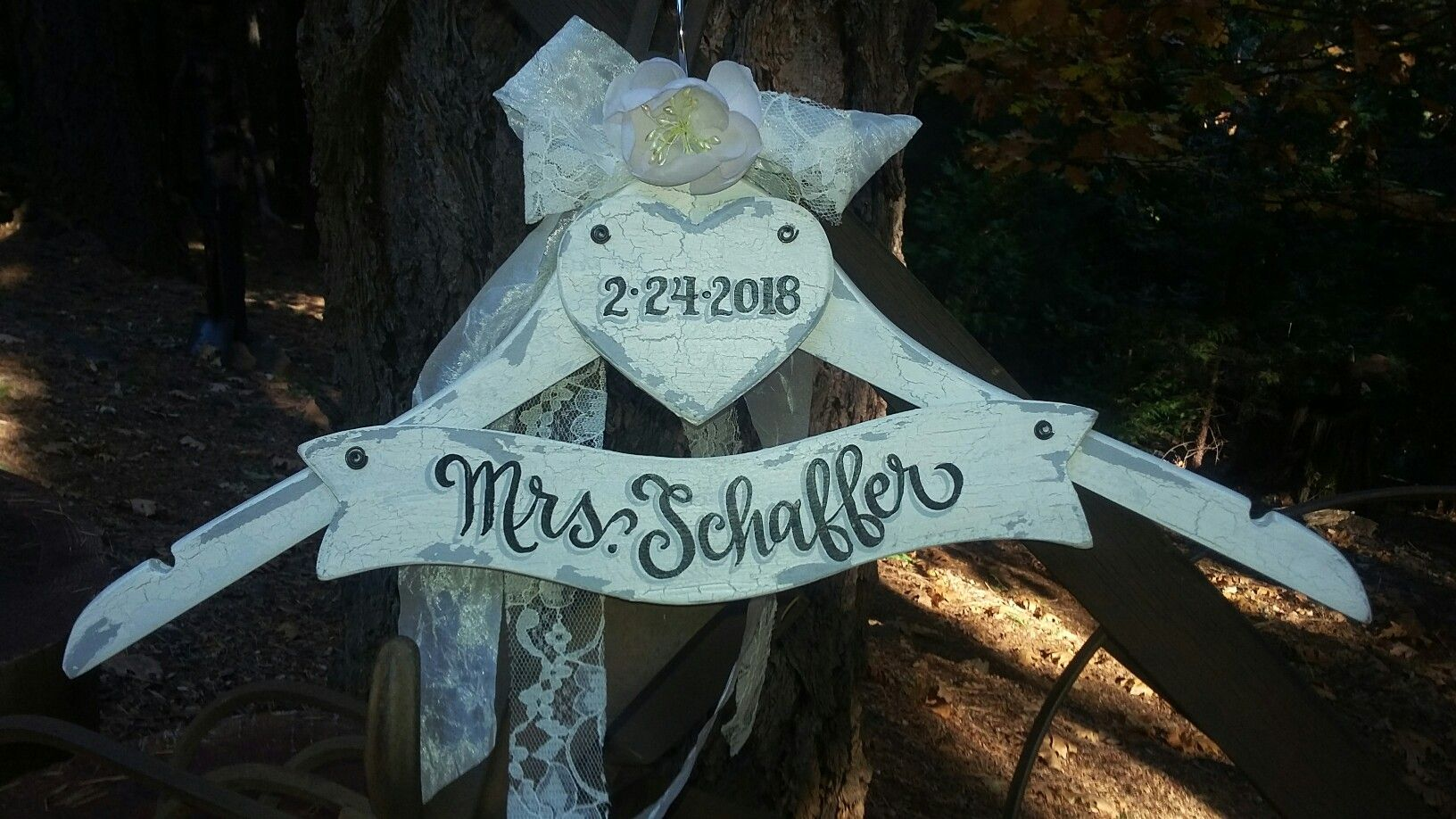 Wedding dress hanger by Karen on etsy.com touchofjoydesigns ...