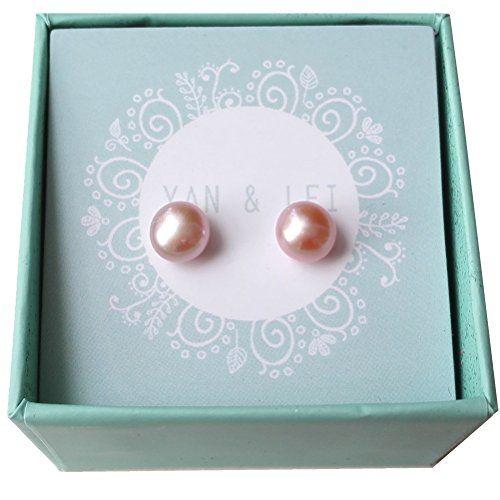 YAN & LEI Sterling Silver Freshwater Cultured Pearl Stud Earrings VHjrz