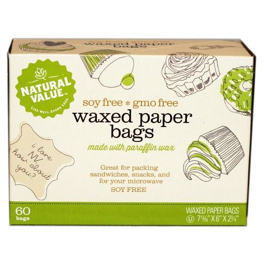 Natural Value Waxed Paper Bags 60ct Plum Market