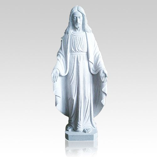 The Jesus Granite Statue Granite Statue is beautifully hand carved from natural granite. This granite statue is carved by some of the finest granite sculptors in the world. These statues can make beautiful memorials for cemeteries, or can be used to accent the home or garden.