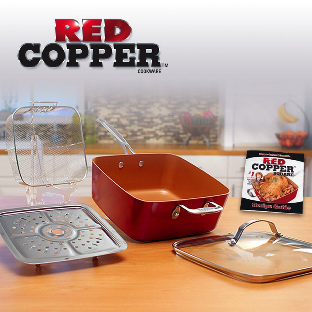 Red Copper Square Pan 5 Piece Set Red Copper Square Pan Copper Square Specialty Cookware