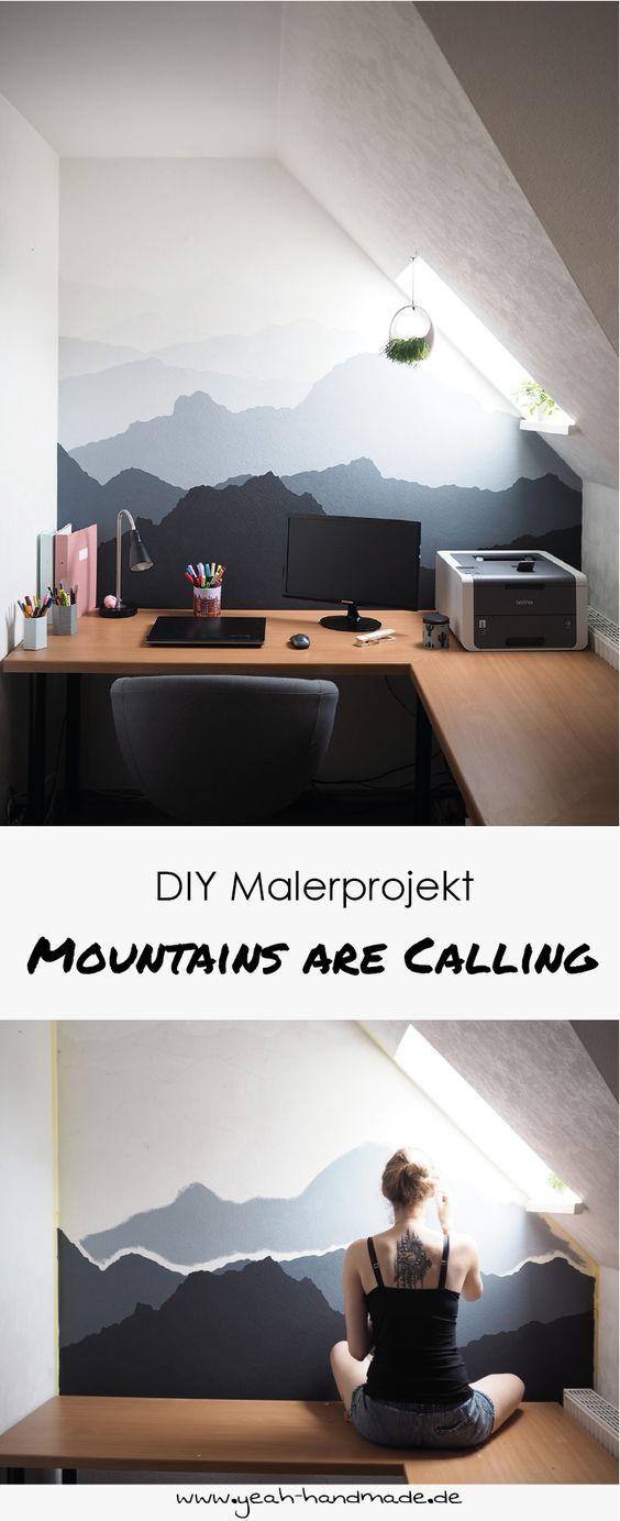 Diy Malerprojekt Mountains Are Calling Wand Malen Handmade