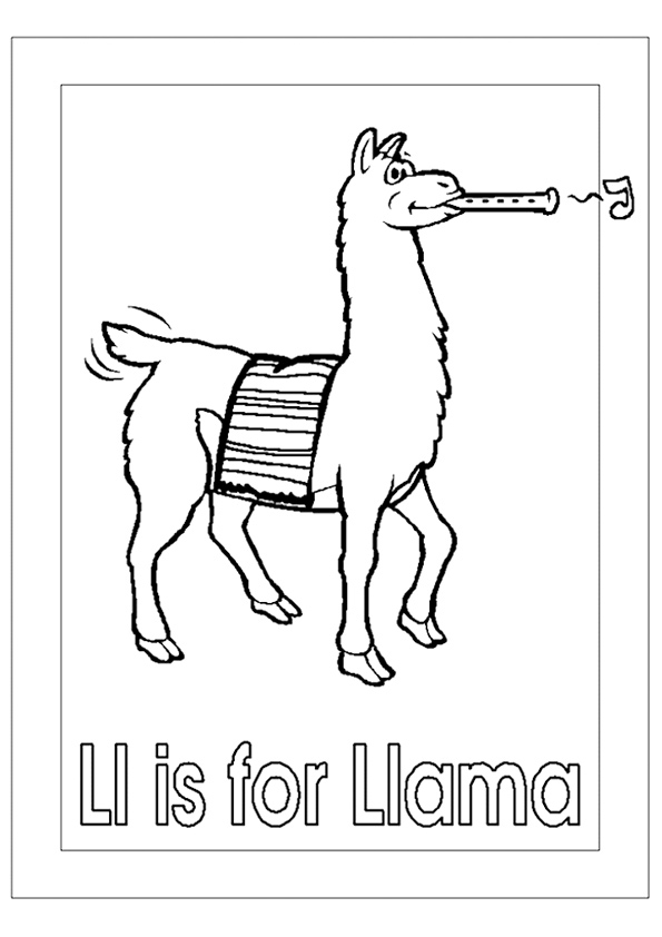 Llama Coloring Page Free Coloring Page Template Printing Printable Llama Coloring Pages For Kid Coloring Pages For Kids Coloring Pages To Print Coloring Pages