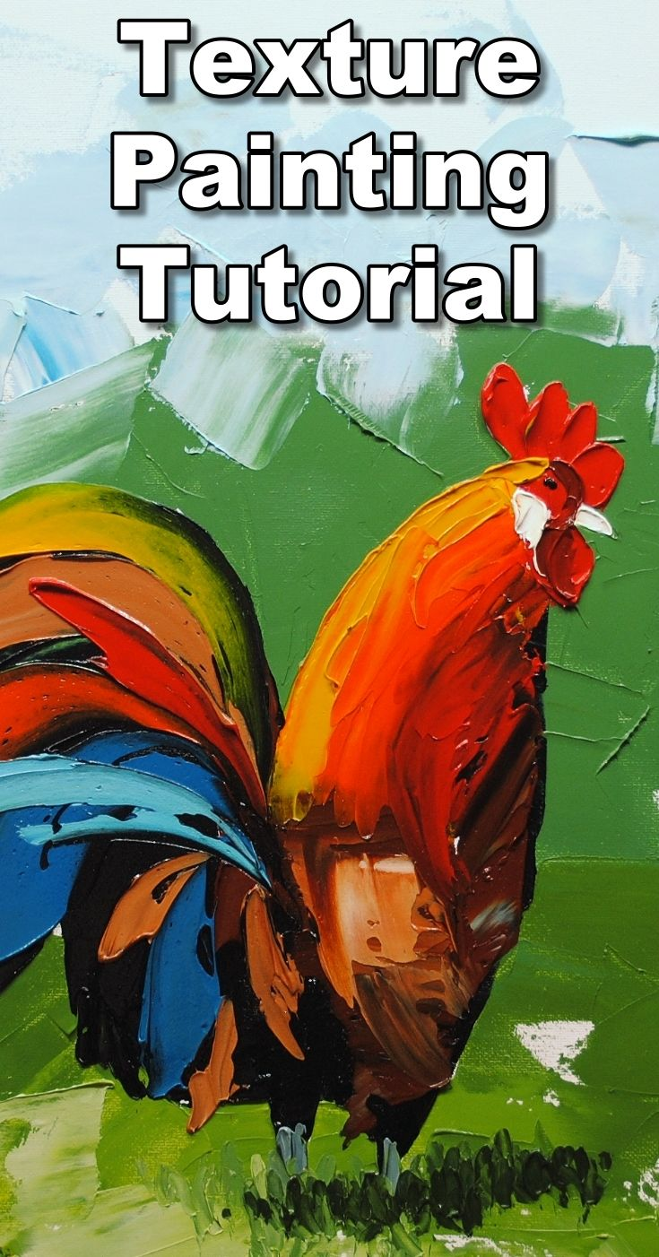 Learn how to add texture to your paintings by painting with a