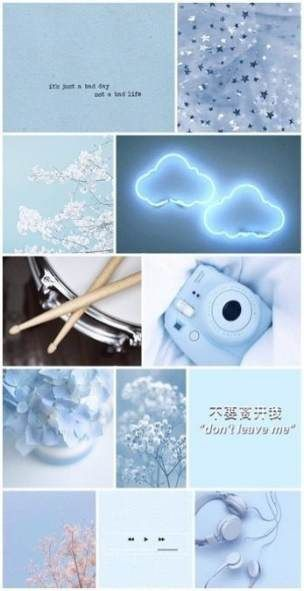 New blue aesthetic wallpaper iphone collage Ideas