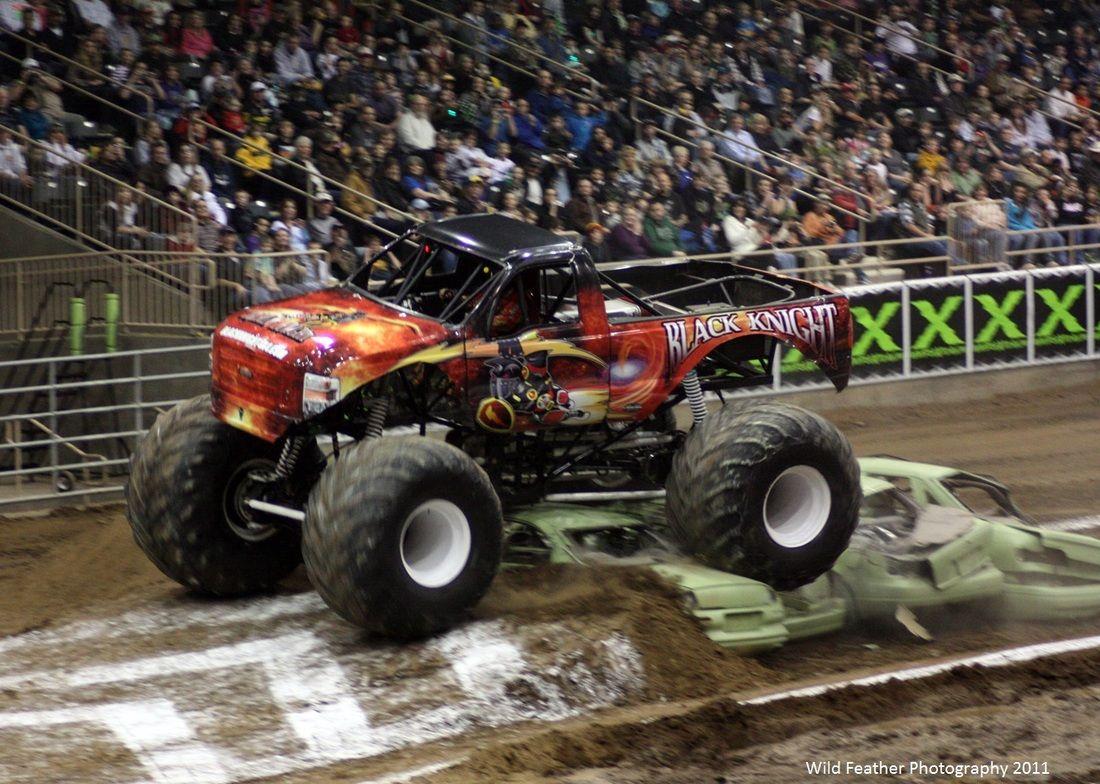 Black Knight Coming Into A Jump Monster Truck X Tours Redmond Oregon 2011 Monster Trucks Trucks Monster