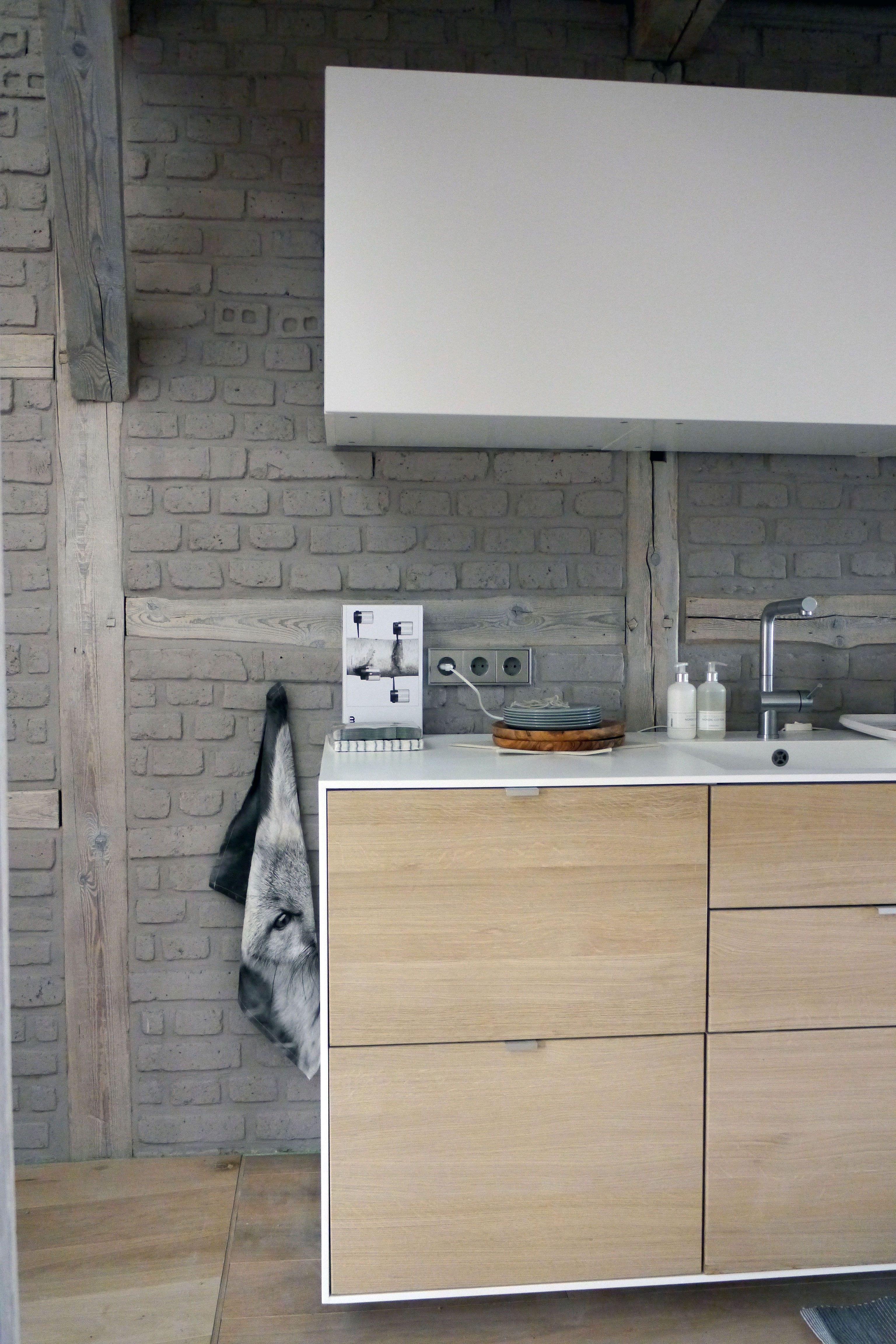 Believe It Or Not Ikea Method Kuche Individualisiert Mit Tischlerfronten In Eiche Und Himacs Arbeitsplatte Bois Cuisine