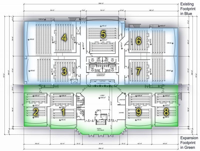 Movie theater floor plan necessary evil ideas for Multiplex floor plans
