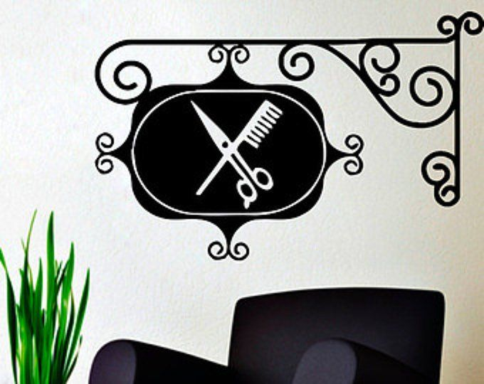 Wall Decals Hairdressing Hair Beauty Salon Decal Vinyl