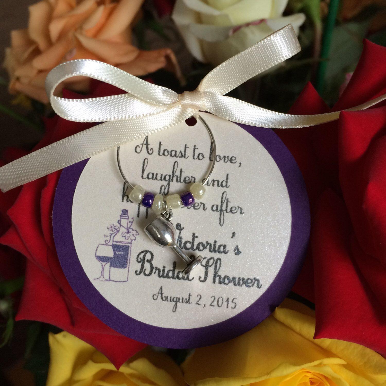 vineyard theme wine charm favor personalized bridal shower favor wedding favor bridal