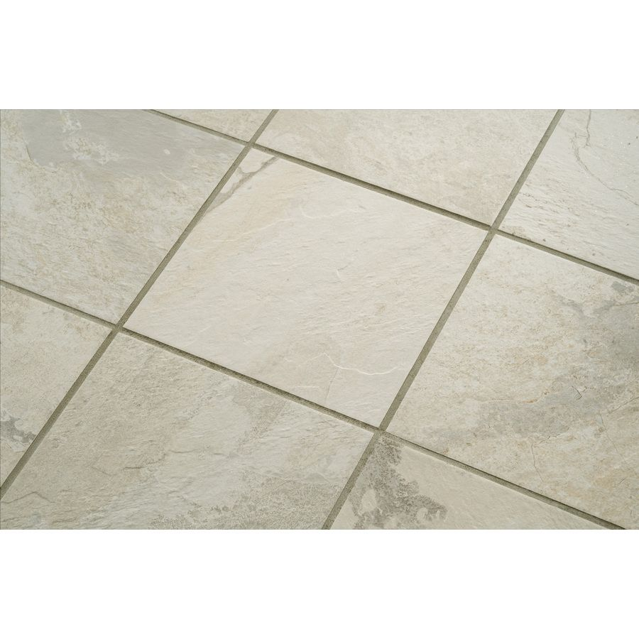 Shop style selections 8 pack ivetta white glazed porcelain floor shop style selections 8 pack ivetta white glazed porcelain floor tile common 18 doublecrazyfo Choice Image
