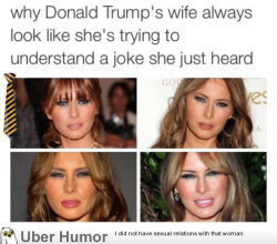 omg-pictures:  Trump's wifehttp://omg-pictures.tumblr.com