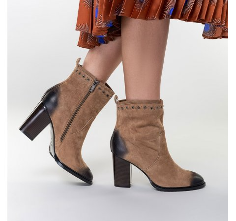 Damskie Botki Na Slupku Zamszowe Wittchen Boots Womens Boots Ankle Boot