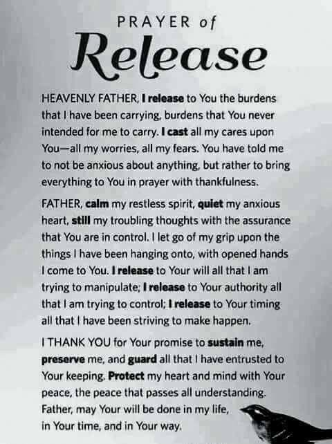 Prayer of release