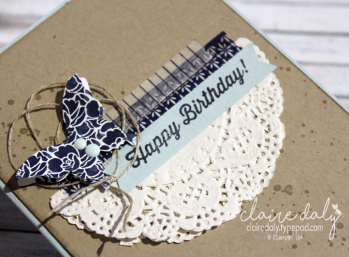 Birthday Cards Melbourne ~ Floral boutique dsp and washi tape birthday card by claire daly