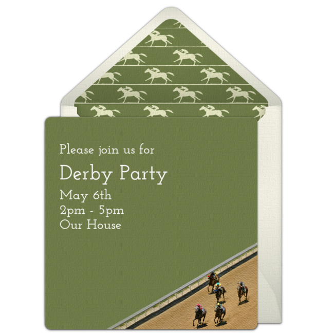 Free horse racing invitations talk derby to me pinterest free customizable free horse racing online invitations easy to personalize and send for a party punchbowl stopboris Gallery