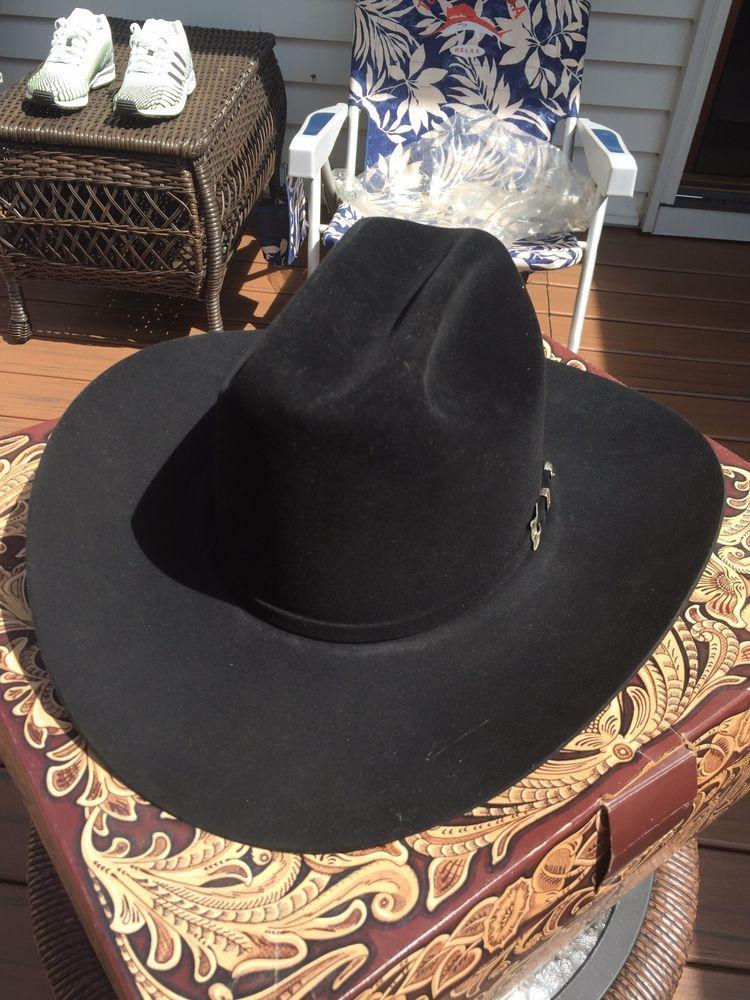 76ce4b67644 Men s Resistol Black Cowboy Hat 20x Beaver Size 7 1 4