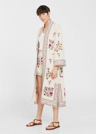 grande remise de 2019 bien pas cher original de premier ordre Floral embroidered kaftan - Women | Kimono fashion, Zara ...