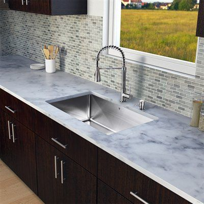 pazo all in one 30 inch undermount stainless steel kitchen sink and faucet set. beautiful ideas. Home Design Ideas