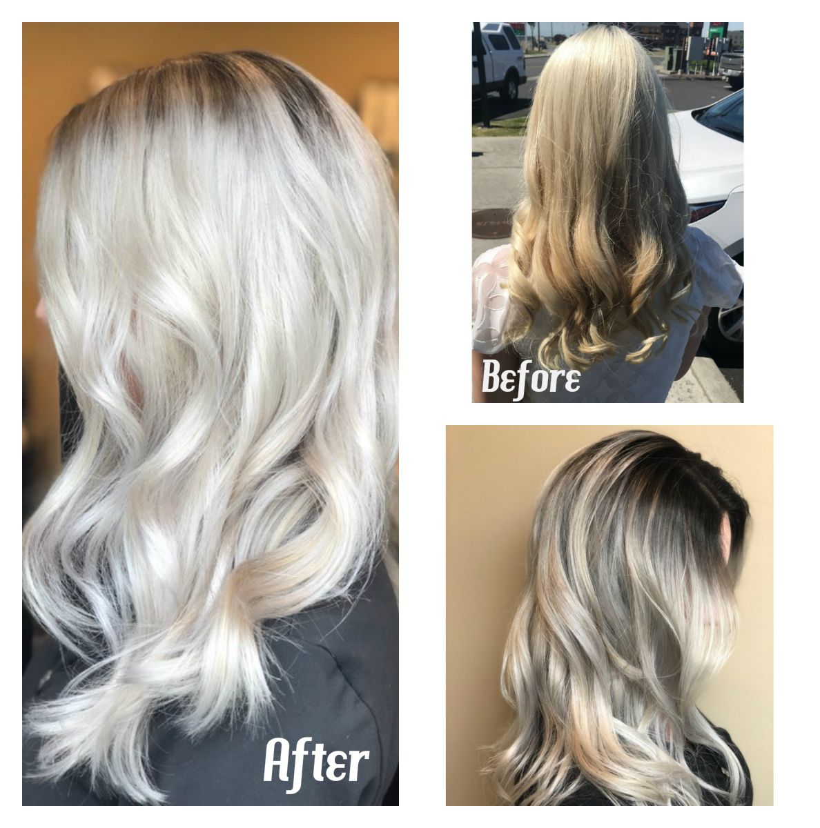 Hair By Elizabeth From Brassy And Yellow To Icy Platinum Blonde