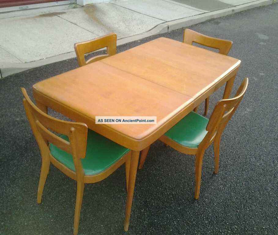 Heywood Wakefield Dogbone Chairs Pretty Folding Mid Century Modern Dining And Table