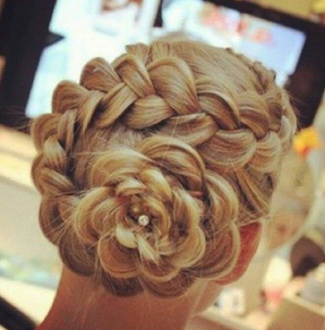 Bridal Hairstyle With Rose : Rose hairstyle beautiful weddings! pinterest