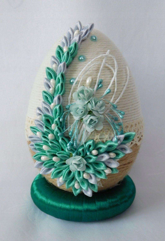 Piekne Jajko Pisanka Ozdoby Wielkanocne Rekodzielo 7142558820 Oficjalne Archiwum Allegro Ribbon Crafts Crafts Quilted Ornaments