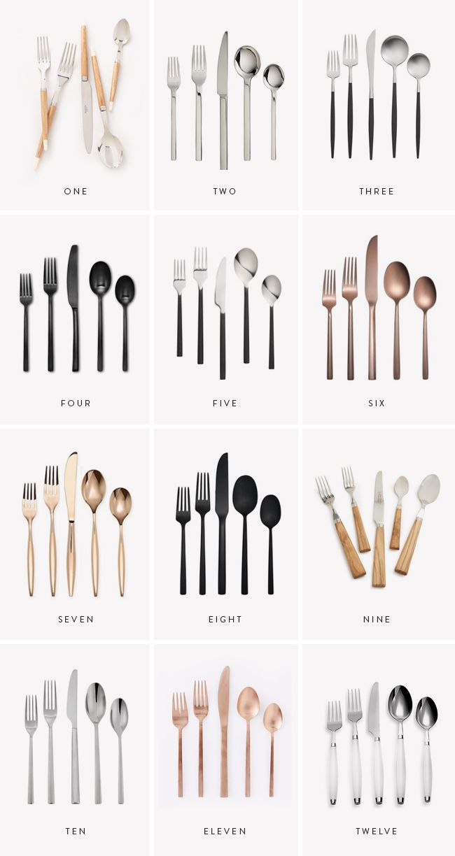 12 modern flatware sets