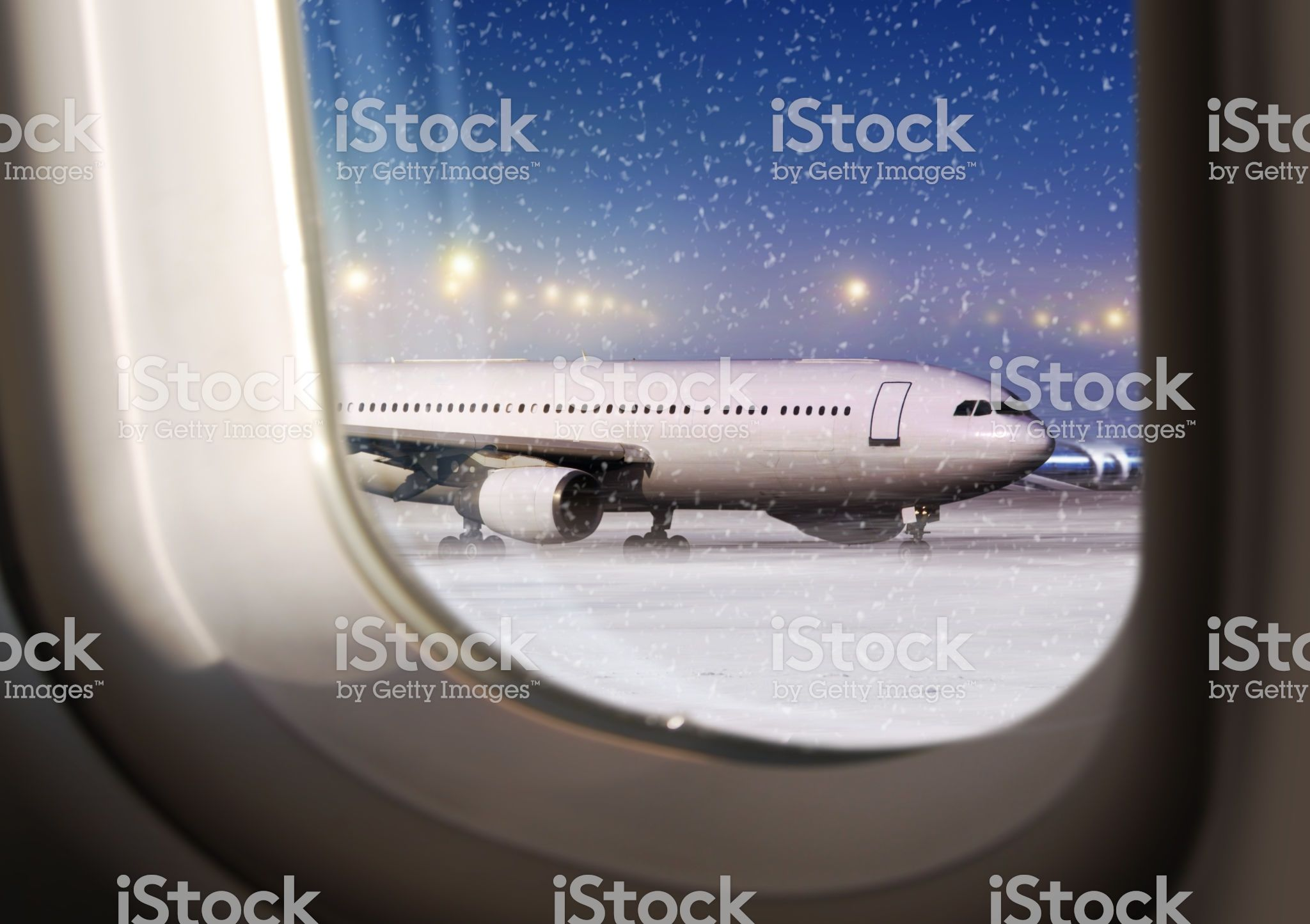 Airport And White Aircraft At Non Flying Weather View Through A In 2020 Industry Images Stock Images Free Photos For Sale