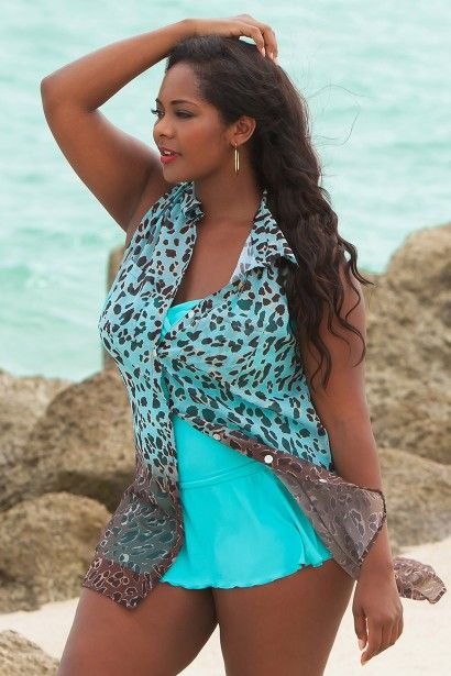 Add a little animal attraction with our Leopard print Swimsuit Cover-up:by Always For Me -