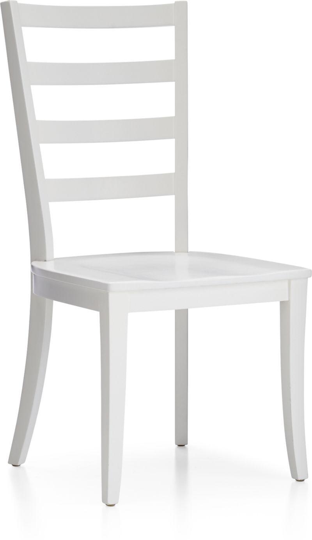 952d47d757116 Harper White Ladder Back Dining Chair