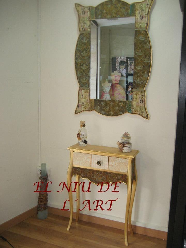 espejo y mensula