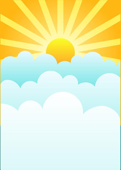 Free Image On Pixabay Sunrise Clouds Rising Sun Sky Clip Art Borders Sun Paper Clouds