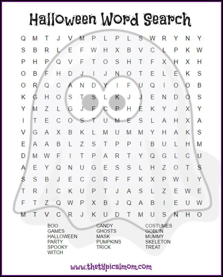 Here are several free Halloween word search printables pages you ...