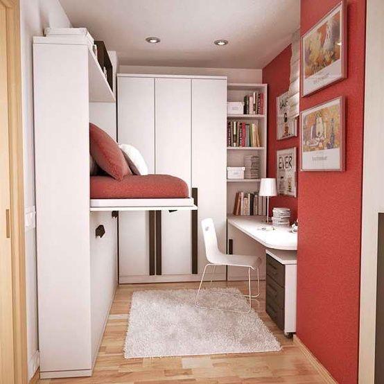 efficient bedrooms for teens withe bed hidden away - Google Search
