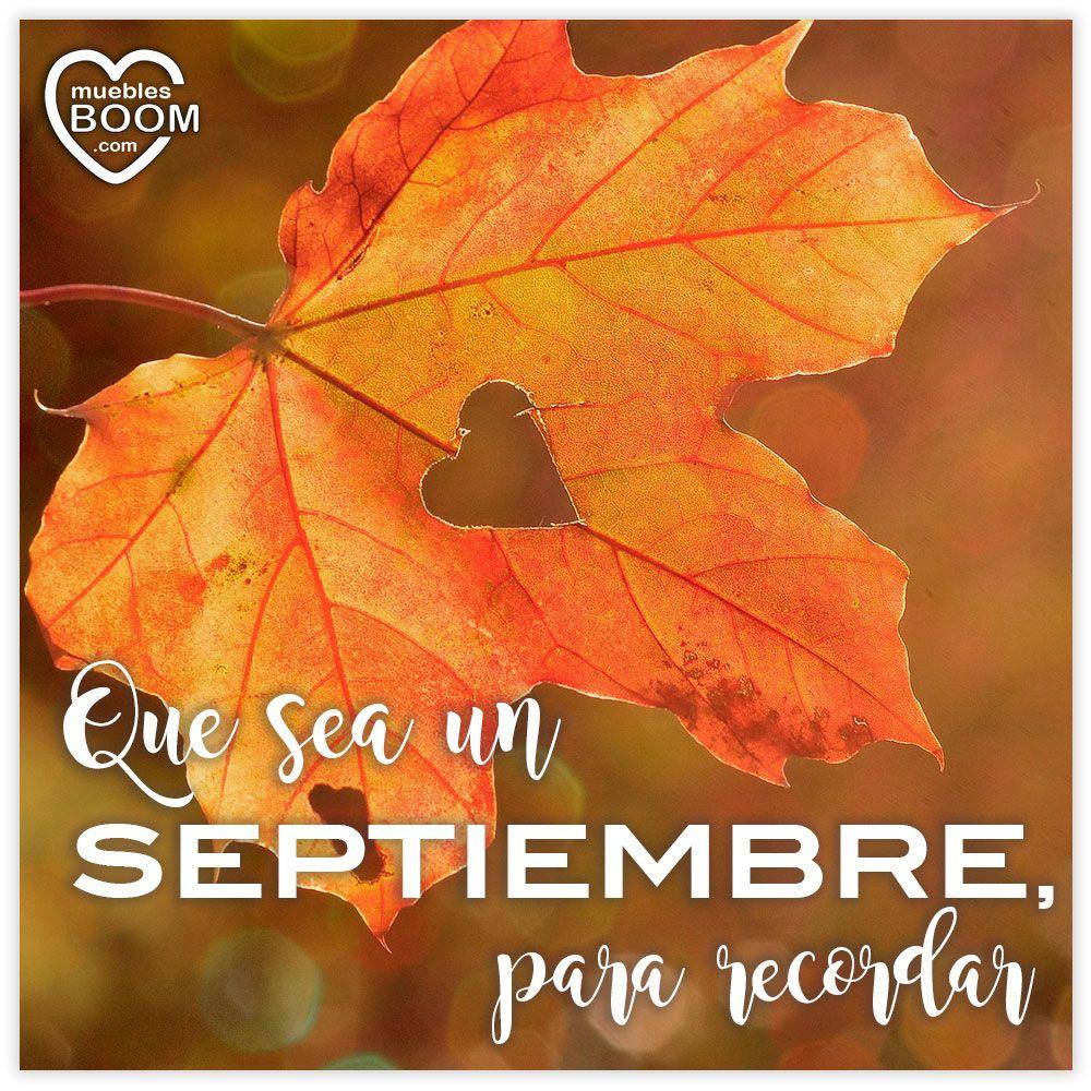 Lo bueno de que termine agosto, es el maravilloso #septiembre que nos espera. ¡Buenos días! #BienvenidoSeptiembre