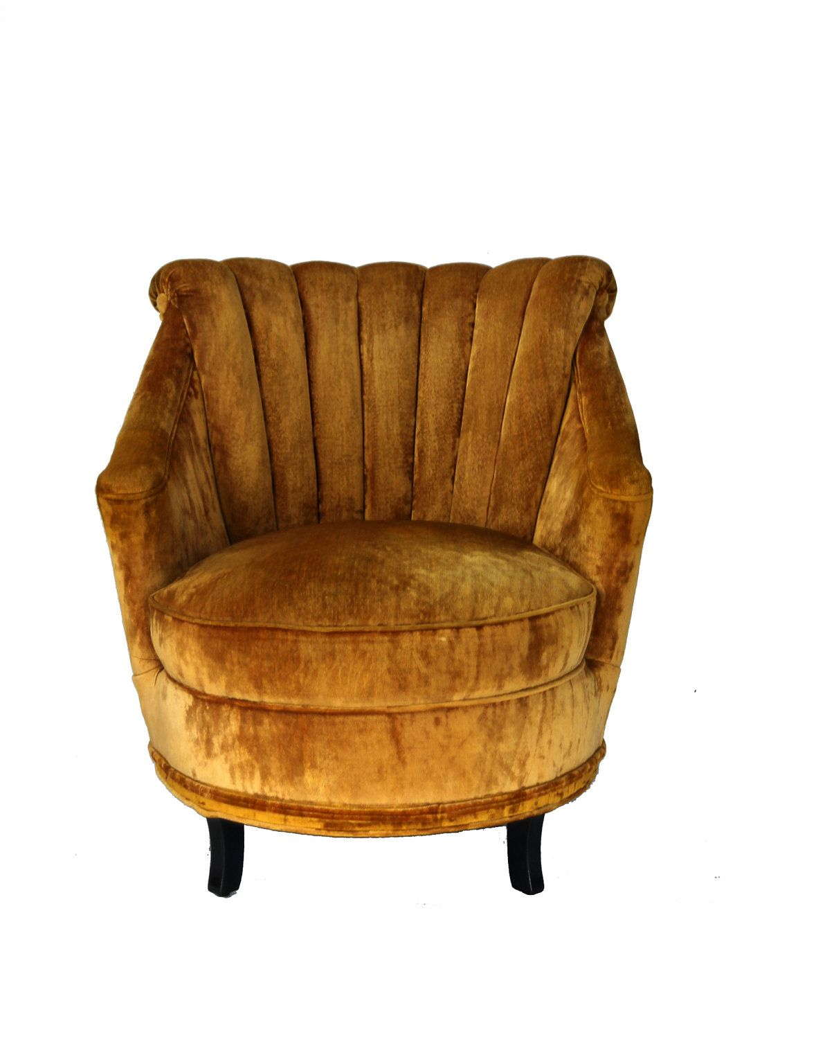 Gold Velvet Chair Petite Vintage Crushed Velvet Chair Dwelling